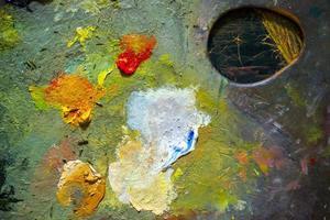 Pinsel Kunst Farbpalette foto