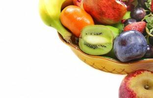 Mischung aus vegetarischen Bio-Früchten foto