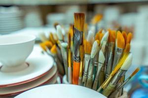 Kunstobjekt Pinsel Ausrüstung foto