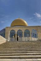 die tempelbergkuppel des felsens jerusalem, israel foto