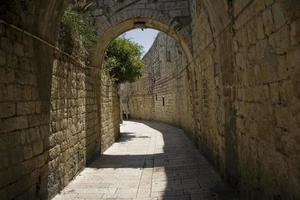 die mauern der alten stadt von jerusalem, dem heiligen land foto