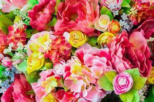 Blumen Hintergrund. Vintage, handgemachte Nähblumen foto