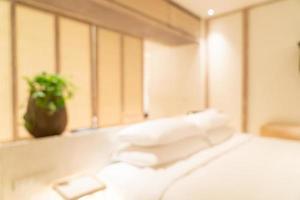 abstrakter Unschärfe-Luxushotel-Resort-Schlafzimmerinnenraum für Hintergrund foto