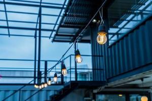 schönes licht lampendekor glühend foto