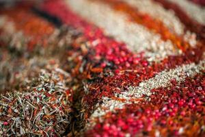 Mischung aus Lebensmittelzutat trockene Bio-Gewürze foto