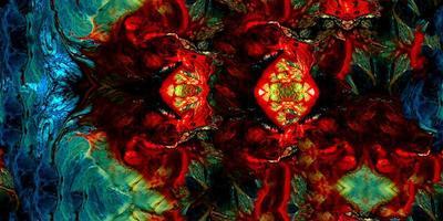 abstrakte bunte Farbe surrealer Samless und kachelbarer Hintergrund foto