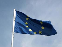 europäische flagge von europa foto