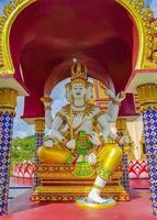 farbenfrohe Architektur und Statuen im Wat Plai Laem Tempel auf der Insel Koh Samui, Surat Thani, Thailand? foto