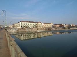 Fluss Po, Turin foto