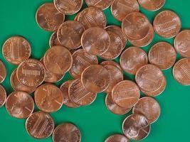 Ein-Cent-Dollar-Münzen, Vereinigte Staaten foto