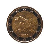 2-Euro-Münze, Europäische Union isoliert über weiß foto