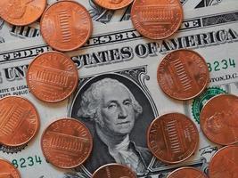 Dollarnoten und -münzen, Vereinigte Staaten foto