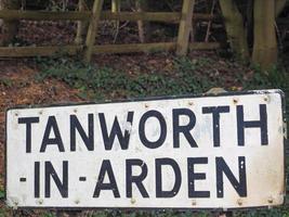 tanworth im arden sign foto