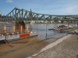 Fluss Main Hochwasser in Frankfurt am Main foto