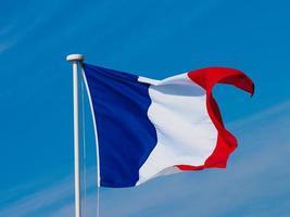 französische flagge von frankreich foto