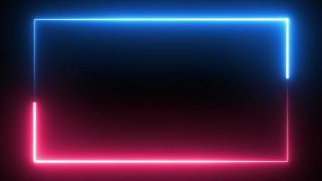 Säbel Neon Glühen Farbe fließender Rechteck Hintergrund foto