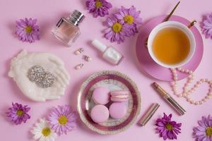 die raffinierte Teeparty-Komposition foto