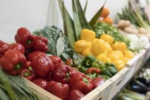 köstlicher Gemüsemarkt mit hohem Winkel foto