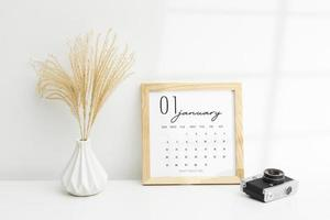 Zielsetzungskonzept mit Kalender foto