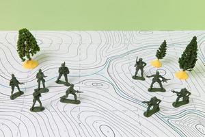 Geschichtsfacharrangement mit Soldaten foto