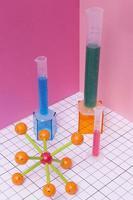 Chemie Fächeranordnung Stillleben foto