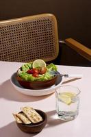 das leckere gesunde Essens-Arrangement foto