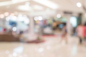 abstrakte Unschärfe schönes Luxus-Einkaufszentrum foto