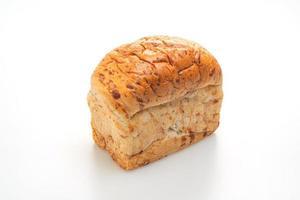 Brotlaib isoliert auf weißem Hintergrund foto