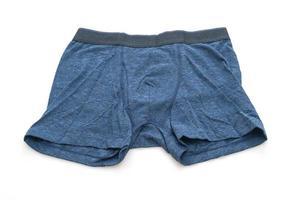 blaue Herrenunterwäsche isoliert auf weißem Hintergrund foto