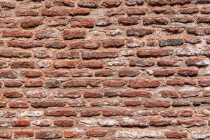 rote Backsteinmauer Textur Hintergrund. foto