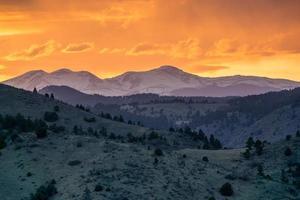 Sonnenuntergang über den Rockies foto