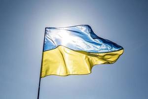 ukrainische nationalflagge foto