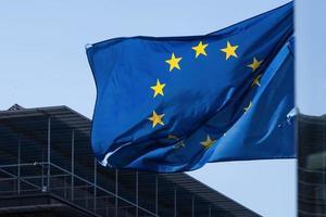 die flagge der europäischen union foto