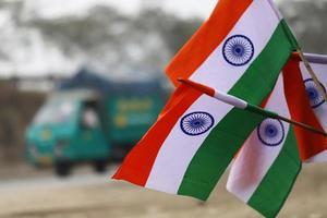 Indiens Nationalflagge foto