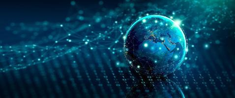 globales Geschäfts- und Netzwerkverbindungskonzept. foto