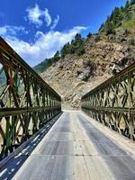 Tota-Brücke im Neelum-Tal Gurez foto