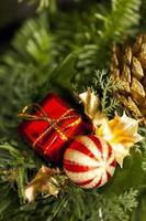 Weihnachten Neujahr buntes Dekorationskonzept foto