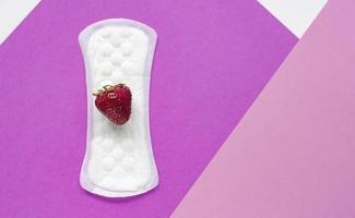 das Konzept der Frauengesundheit. vaginaler Ausfluss. foto