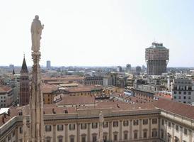 Blick auf Mailand foto