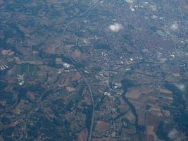 Luftaufnahme von Asti foto