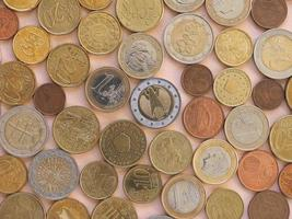 Euro-Münzen, Hintergrund der Europäischen Union foto