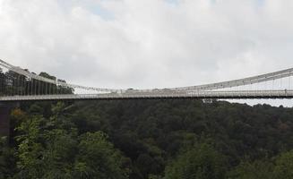 clifton hängebrücke in bristol foto