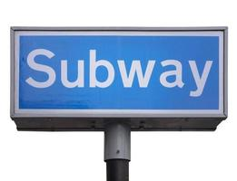 U-Bahn-Schild isoliert foto