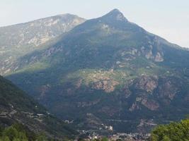 Aostatal in Italien foto