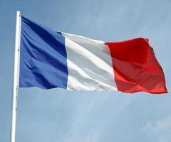 Flagge von Frankreich foto