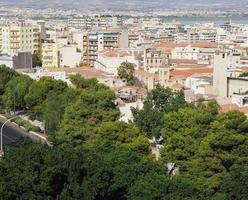 Luftaufnahme von Cagliari foto