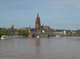 ansicht von frankfurt, deutschland foto