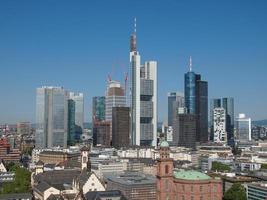 Luftaufnahme von Frankfurt foto