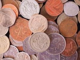 britische Pfundmünze foto