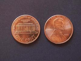 1-Cent-Münze, Vereinigte Staaten foto